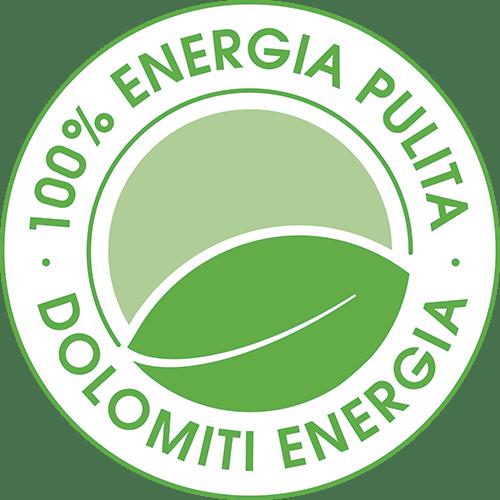 logo Dolomiti Energia 100% Energia Pulita